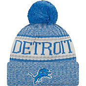 New Era Men's Detroit Lions Sideline Cold Weather Blue Sport Knit