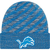 New Era Men's Detroit Lions Sideline Cold Weather TD Blue Knit