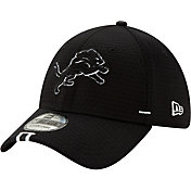 New Era Men's Detroit Lions Sideline Training Camp 39Thirty Stretch Fit Black Hat