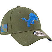 New Era Men's Salute to Service Detroit Lions 39Thirty Olive Stretch Fit Hat