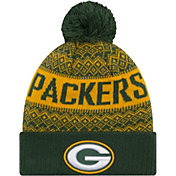 New Era Men's Green Bay Packers Wintry Green Pom Knit