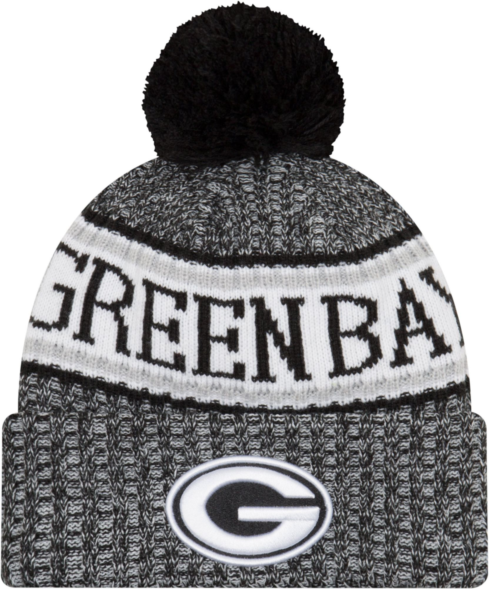 8078d280dcf ... discount code for new era mens green bay packers sideline cold weather  reverse black sport knit