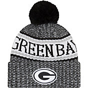 New Era Men's Green Bay Packers Sideline Cold Weather Reverse Black Sport Knit