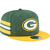 New Era Men's Green Bay Packers Sideline Home 9Fifty Green Adjustable Hat