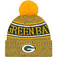New Era Men's Green Bay Packers Sideline Cold Weather Reverse Yellow Sport Knit