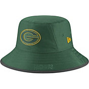 New Era Men's Green Bay Packers Sideline Training Camp Green Bucket Hat