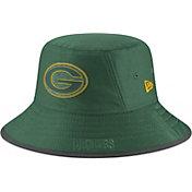 New Era Men's Green Bay Packers Sideline Training Camp Green Bucket Hat