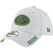 New Era Men's Green Bay Packers Sideline Training Camp 39Thirty Grey Stretch Fit Hat