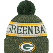 New Era Men's Green Bay Packers Sideline Cold Weather Green Sport Knit