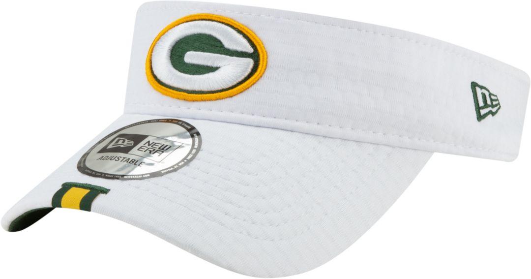57e72d49 New Era Men's Green Bay Packers Sideline Training Camp Adjustable White  Visor