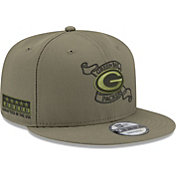 New Era Men's Green Bay Packers Crafted in the USA Adjustable Olive Hat