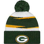 New Era Men's Green Bay Packers Thanksgiving Green Pom Knit