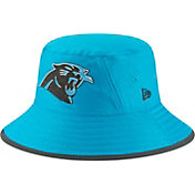 New Era Men's Carolina Panthers Sideline Training Camp Blue Bucket Hat