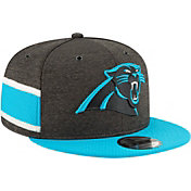 New Era Men's Carolina Panthers Sideline Home 9Fifty Black Adjustable Hat