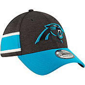 New Era Men's Carolina Panthers Sideline Home 39Thirty Black Stretch Fit Hat