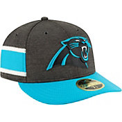 New Era Men's Carolina Panthers Sideline Home 59Fifty Black Fitted Hat