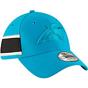 New Era Men's Carolina Panthers Sideline Color Rush 39Thirty Blue Stretch Fit Hat
