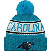 New Era Men's Carolina Panthers Sideline Cold Weather Blue Sport Knit