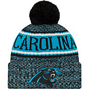 New Era Men's Carolina Panthers Sideline Cold Weather Reverse Black Sport Knit