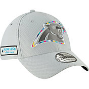 New Era Men's Crucial Catch Carolina Panthers Sideline 39Thirty White Stretch Fit Hat