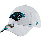 New Era Men's Carolina Panthers Sideline Training Camp 39Thirty Stretch Fit White Hat
