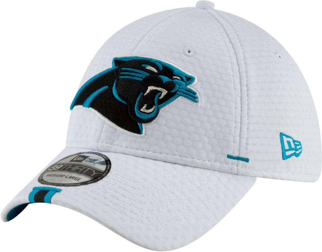 bfe42cf5 New Era Men's Carolina Panthers Sideline Training Camp 39Thirty Stretch Fit  White Hat