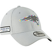 New Era Men's Crucial Catch New England Patriots Sideline 39Thirty White Stretch Fit Hat