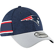 New Era Men's New England Patriots Sideline Home 39Thirty Navy Stretch Fit Hat
