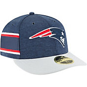 New Era Men's New England Patriots Sideline Home 59Fifty Navy Fitted Hat