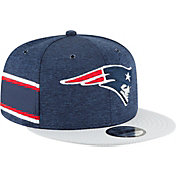 New Era Men's New England Patriots Sideline Home 9Fifty Navy Adjustable Hat