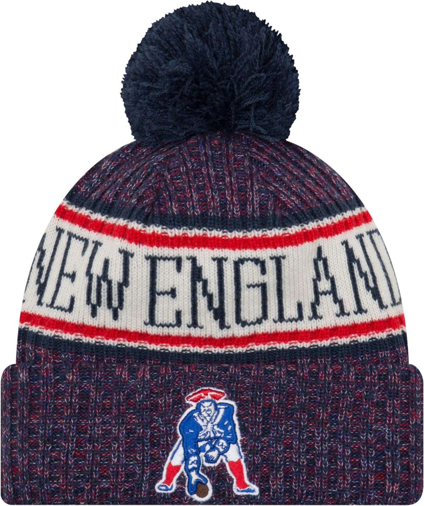 New Era Men's New England Patriots Sideline Cold Weather Navy Sport Knit