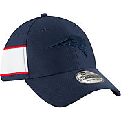 New Era Men's New England Patriots Sideline Color Rush 39Thirty Navy Stretch Fit Hat