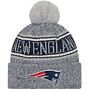 New Era Men's New England Patriots Sideline Cold Weather Reverse White Sport Knit