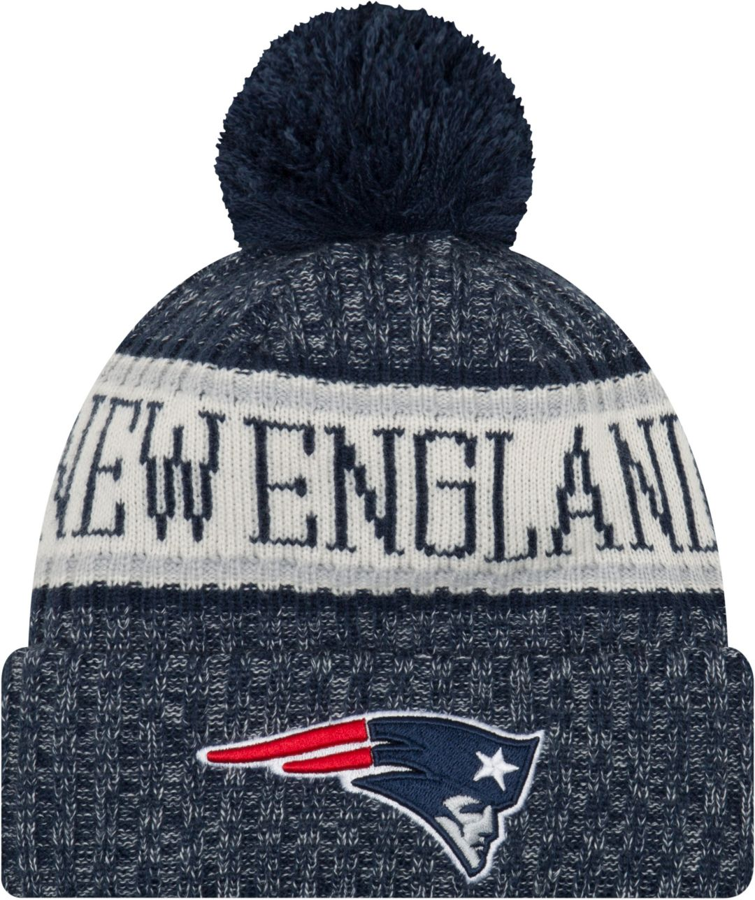 3f49ef2ca2c New Era Men s New England Patriots Sideline Cold Weather Navy Sport Knit 1
