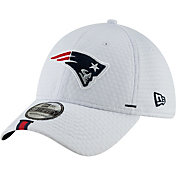 New Era Men's New England Patriots Sideline Training Camp 39Thirty Stretch Fit White Hat