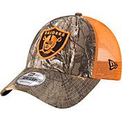 New Era Men's Oakland Raiders Real Tree 9Forty Orange Camo Adjustable Trucker Hat