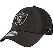 New Era Men's Oakland Raiders Shaded Front 9Forty Black Adjustable Hat