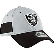 New Era Men's Oakland Raiders Sideline Home 39Thirty Grey Stretch Fit Hat
