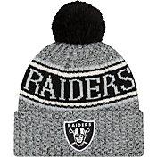 New Era Men's Oakland Raiders Sideline Cold Weather Reverse Grey Sport Knit