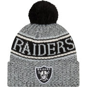 New Era Men's Oakland Raiders Sideline Cold Weather Reverse Grey Sport Knit