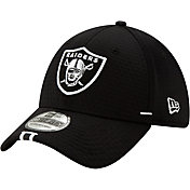 New Era Men's Oakland Raiders Sideline Training Camp 39Thirty Stretch Fit Black Hat