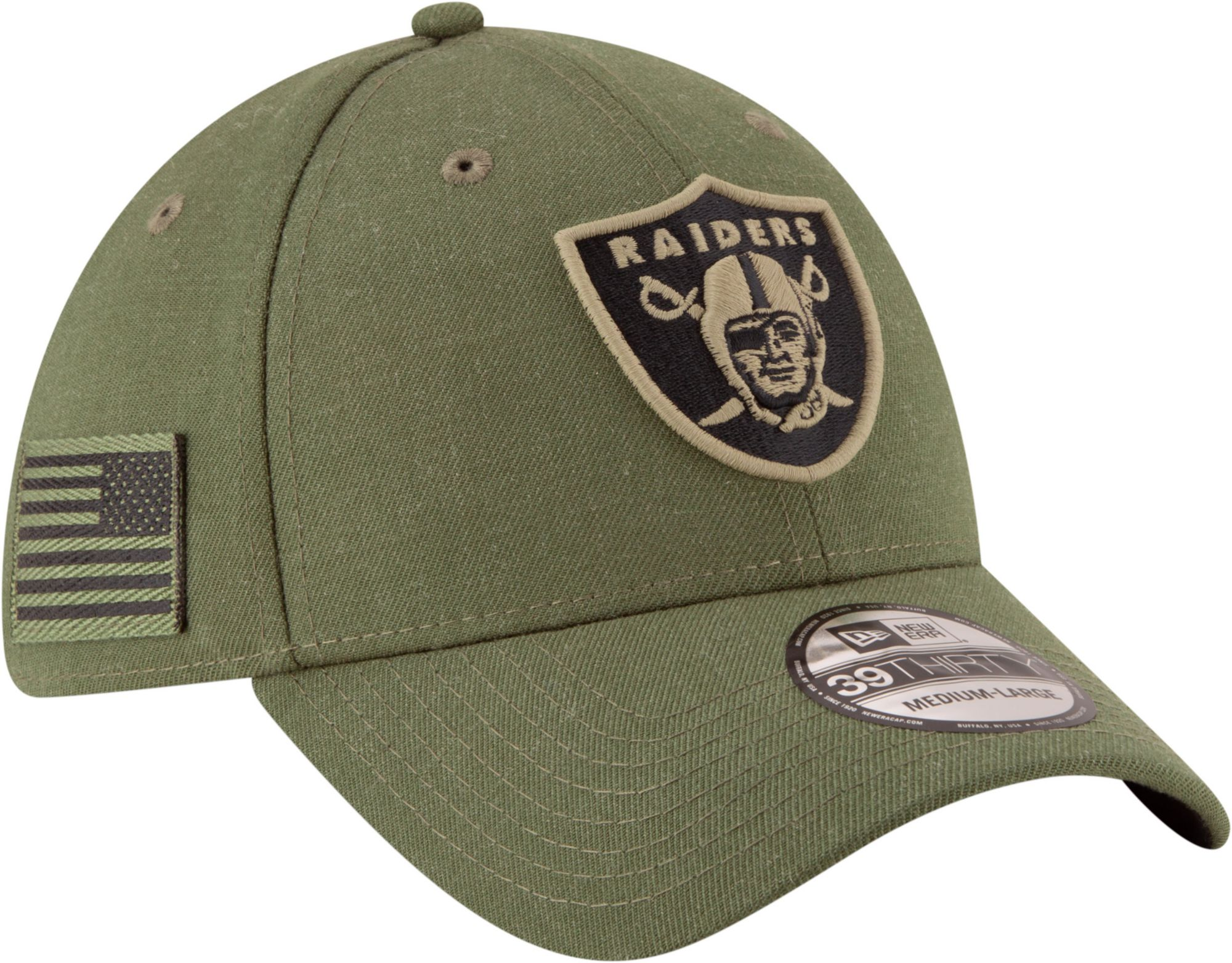 half off 36228 a970b ... best price new era mens salute to service oakland raiders 39thirty olive  stretch fit hat 35742