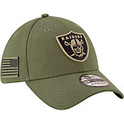 New Era Men's Salute to Service Oakland Raiders 39Thirty Olive Stretch Fit Hat