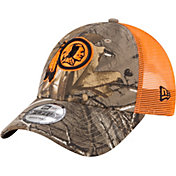 New Era Men's Washington Redskins Real Tree 9Forty Orange Camo Adjustable Trucker Hat