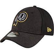 New Era Men's Washington Redskins Shaded Front 9Forty Black Adjustable Hat