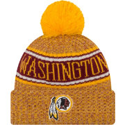 New Era Men's Washington Redskins Sideline Cold Weather Reverse Yellow Sport Knit