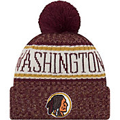 New Era Men's Washington Redskins Sideline Cold Weather Reverse Red Sport Knit