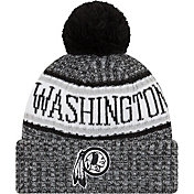 New Era Men's Washington Redskins Sideline Cold Weather Black Sport Knit