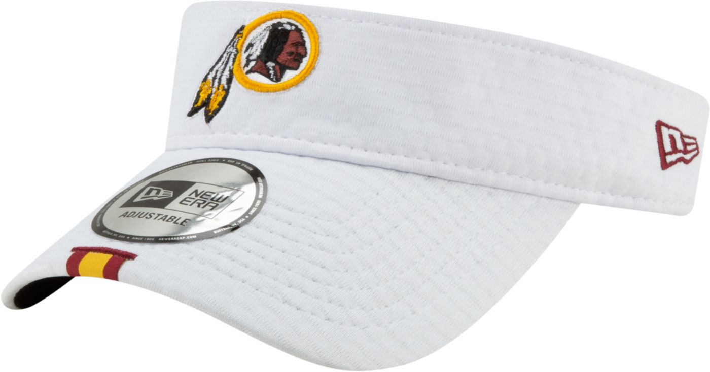 New Era Men's Washington Redskins Sideline Training Camp Adjustable White Visor