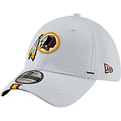 New Era Men's Washington Redskins Sideline Training Camp 39Thirty Stretch Fit White Hat